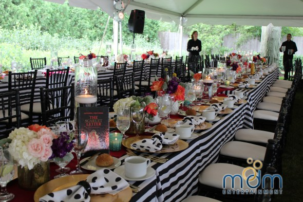 Alice in Wonderland backyard Wedding