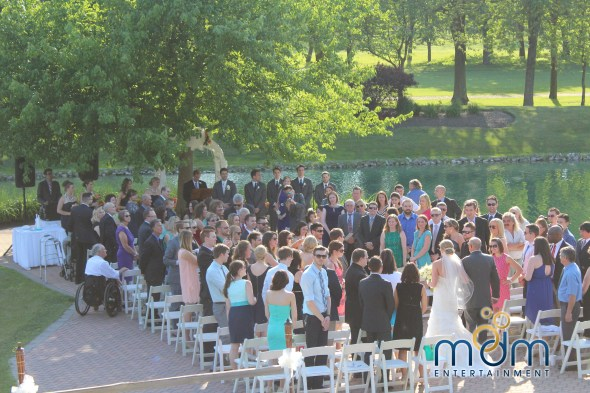 White Pines Wedding Ceremony Outdoors