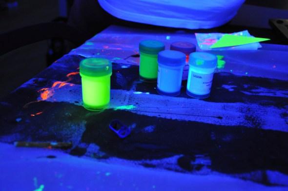 Black light party paint
