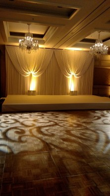 Backdrop and Dance Floor Lighting for a Four Seasons Chicago Wedding