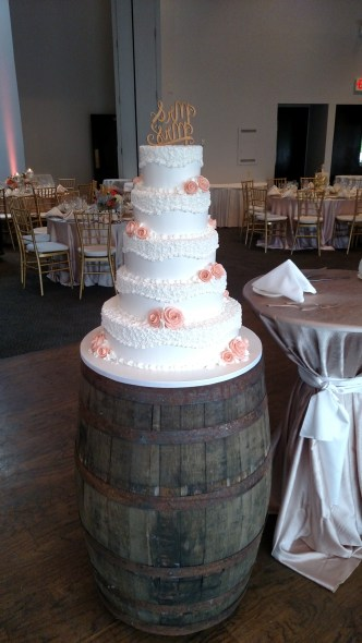 Cake Table Barrel for a Rustic Chic Wedding