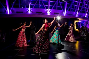 Dance Routine at an Adler Planetarium Wedding