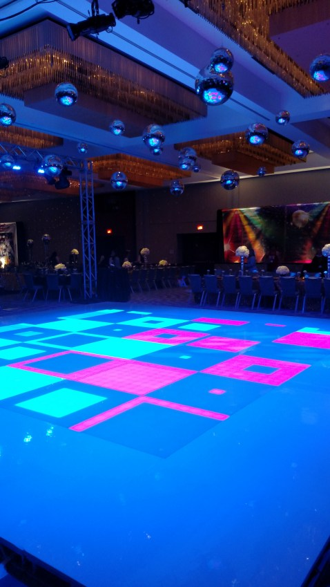 LED Dance Floor for a 70s Theme Party