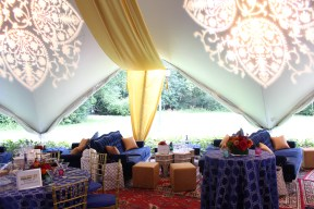 Lighting and Drape for a Moroccan Themed Wedding at Oscar Swan Pavillion