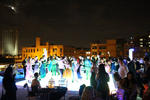 National Hellenic Museum Wedding Afterparty on Rooftop