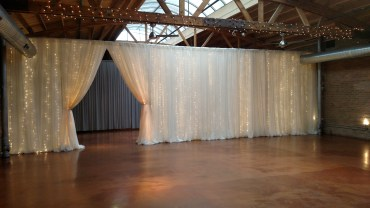 Twinkle Backdrop at Loft on Lake Wedding