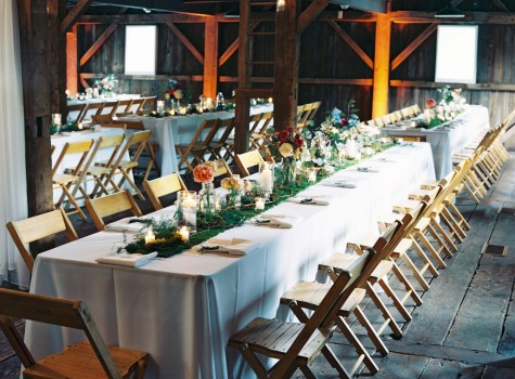 Uplighting for a Rustic Chic Wedding