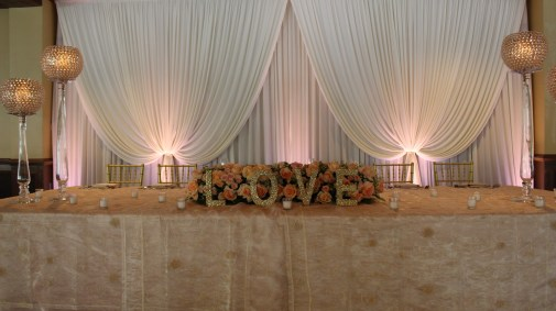 Wedding Backdrop at Ditkas Arlington Heights