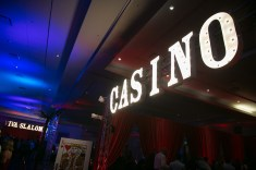 Casino Marquee Sign for a Corporate Event