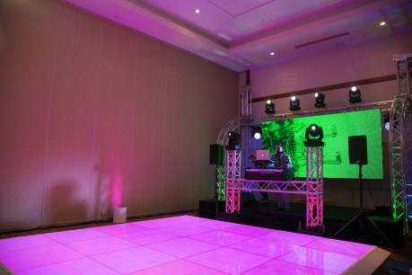 DJ Booth and LED Video Wall for a Corporae Event