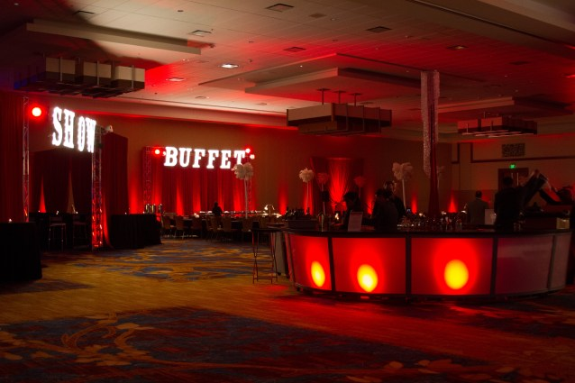 Las Vegas Themed Lighting for a Corporate Event