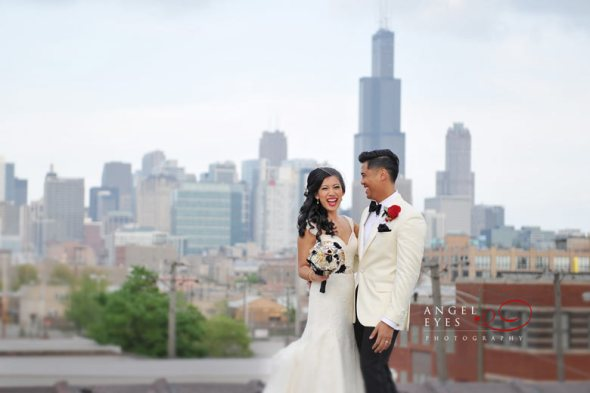 Stunning Rooftop Views With A Perfect Background For Your Wedding Photos