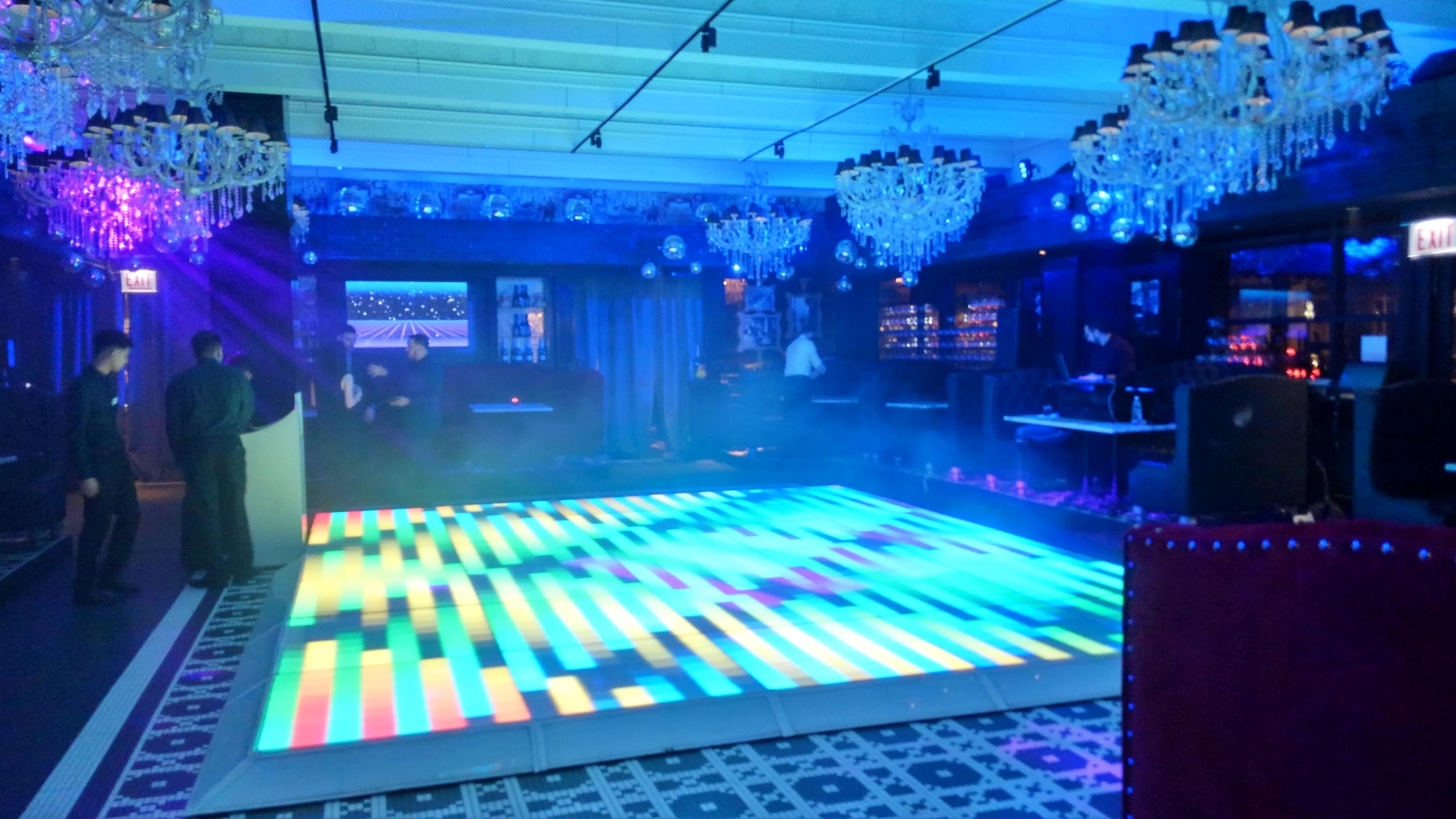 chicago wedding led dance floors
