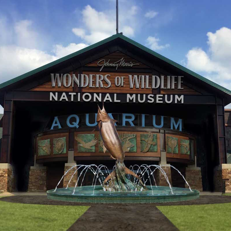 MDM Pumps Wonders of Wildlife Museum fountain installation