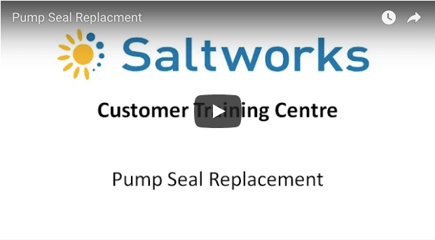 Saltworks Pump Seal Replacement tutorial