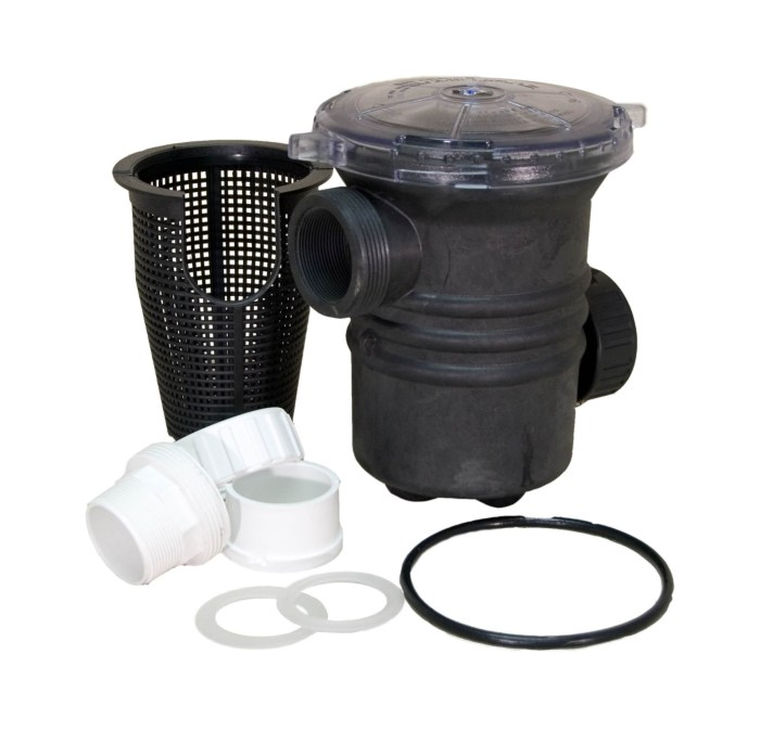 Sequence 90 cubic liter 2 inch Strainer Basket with components
