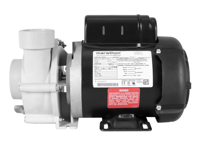 Sequence 750 Pump with black Marathon Motor right side view