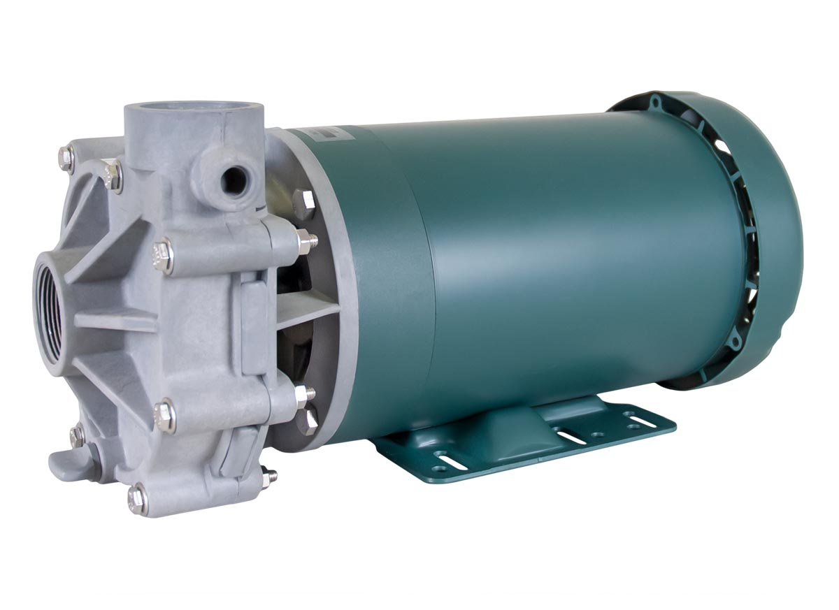 Advance 1000 Pump with green Leeson Motor right angle view