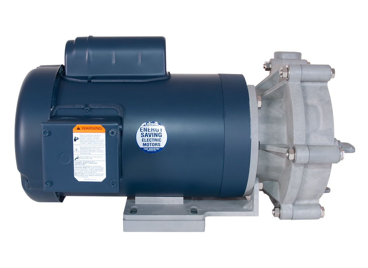 Advance 3000 Pump with blue Leeson Motor left side view