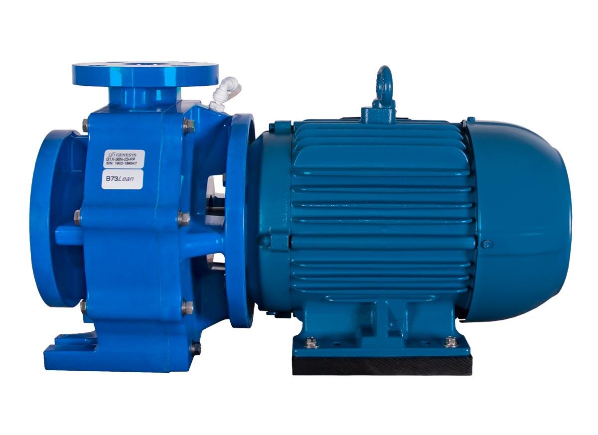 Genesys 3x2x6 with blue WEG Motor right side view