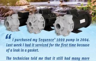 Sequence Pumps testimonial