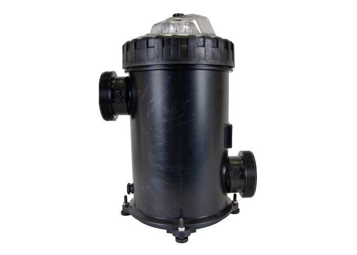 500 cubic liter Strainer Basket with 3 inch ports right side view