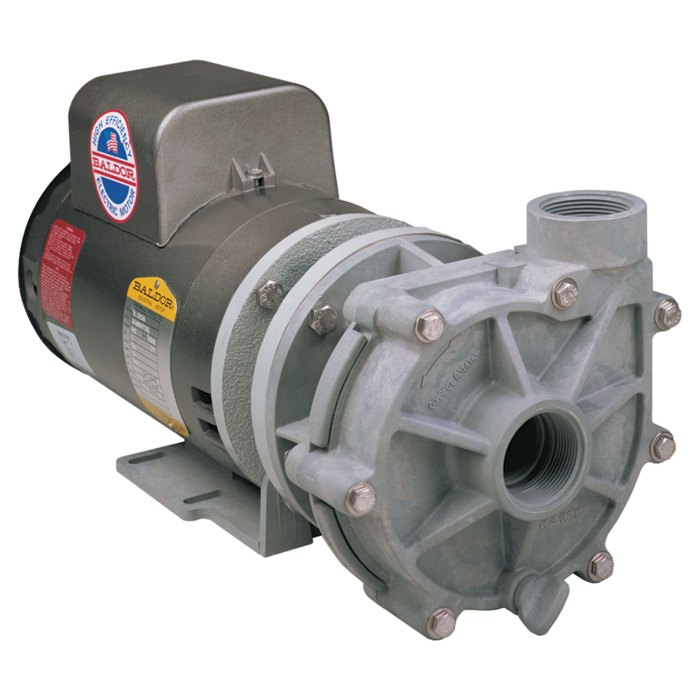 Advance 1000 Pump with Baldor Motor right angle view