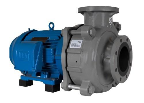 C-Shell 6x5-11 Pump with blue WEG Motor left angle view