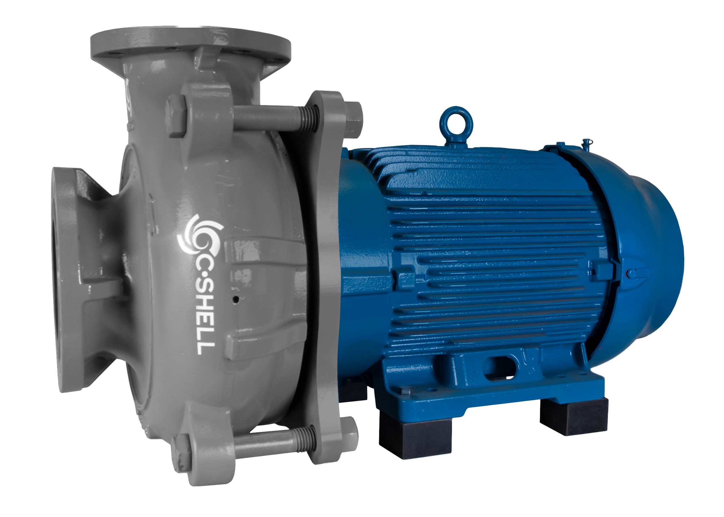 C-Shell 6x5-11 Pump with blue WEG Motor right angle view