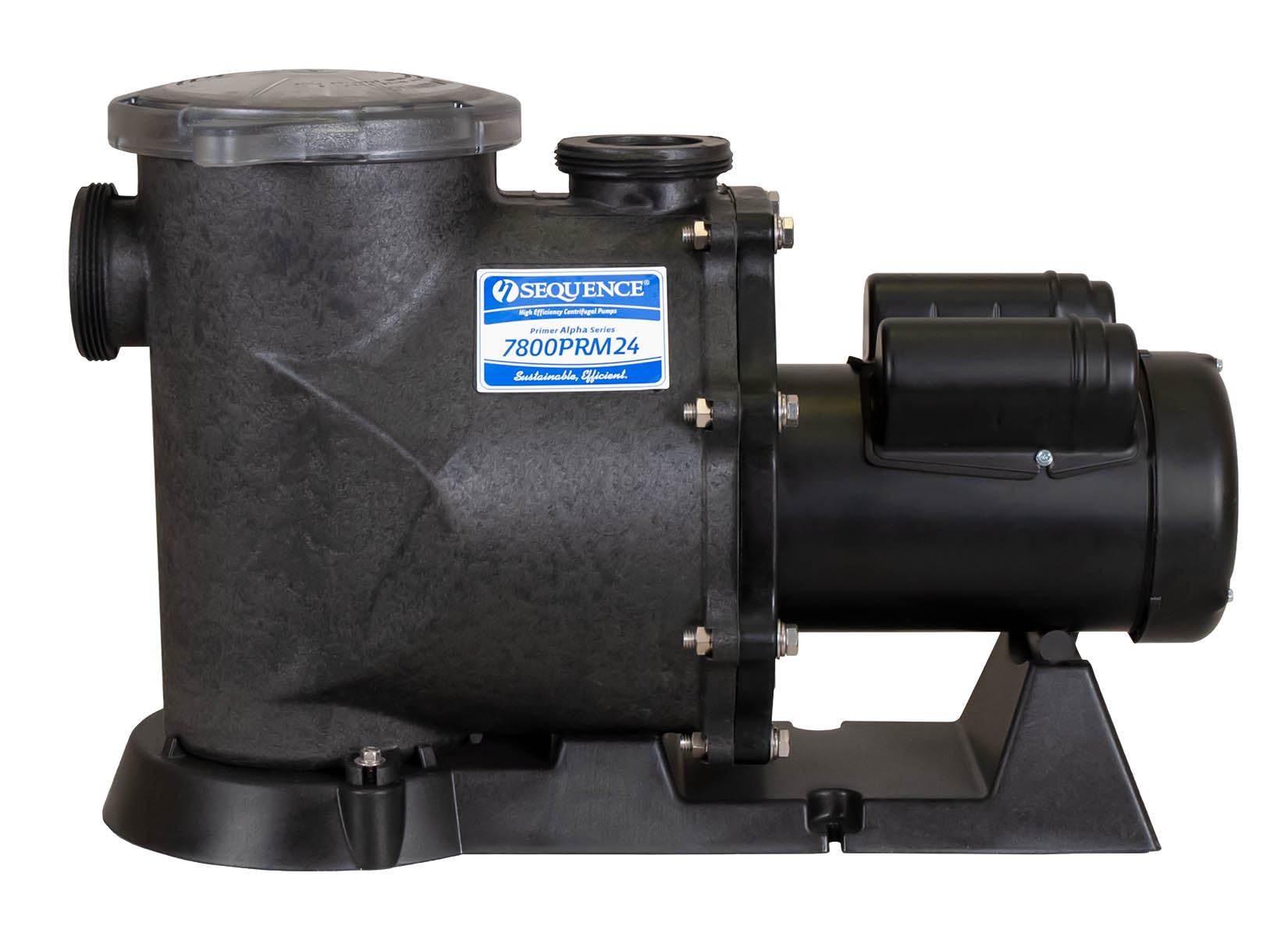Sequence Primer Alpha Pump with black Leeson Motor right side view