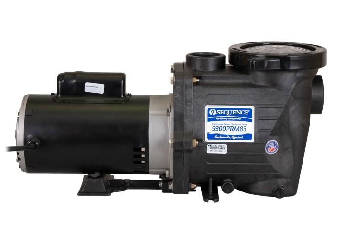 Sequence Primer Power Pump with black Marathon Motor left side view