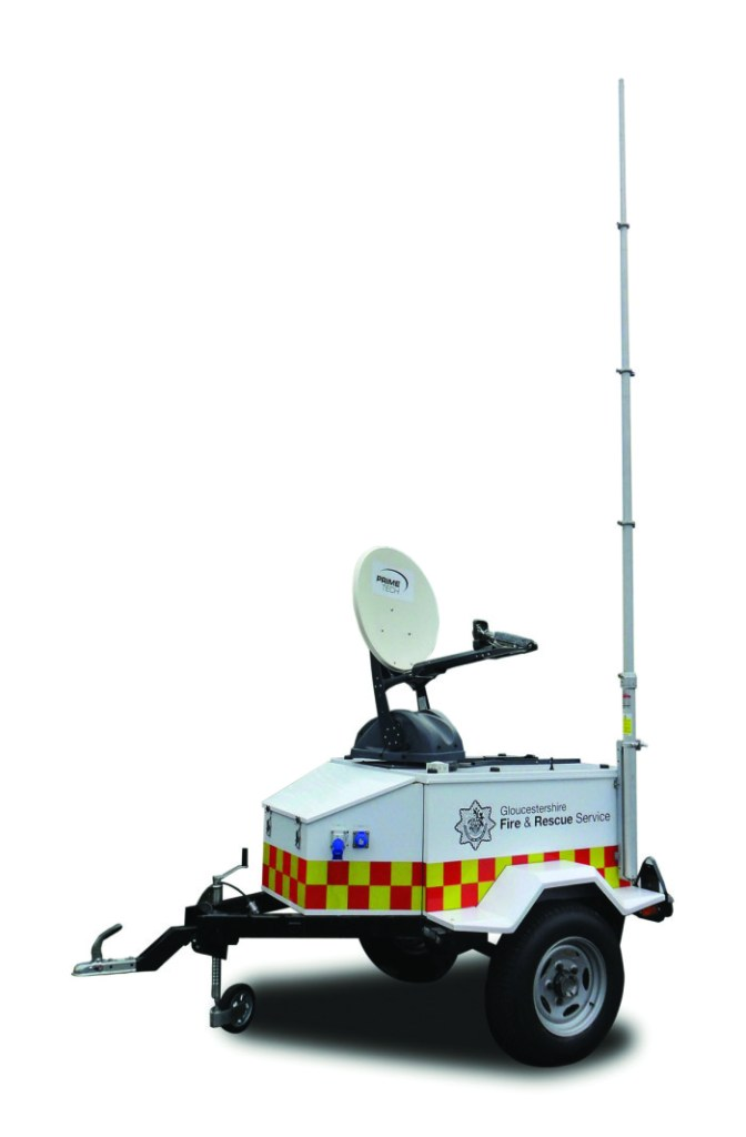 Primetech's Resilient Communications Trailer delivers flexible Ka-band satellite capability and radio comms in any location