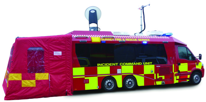 Surrey FRS ICU from Primetech featuring Ka-band satellite broadband and High Definition video