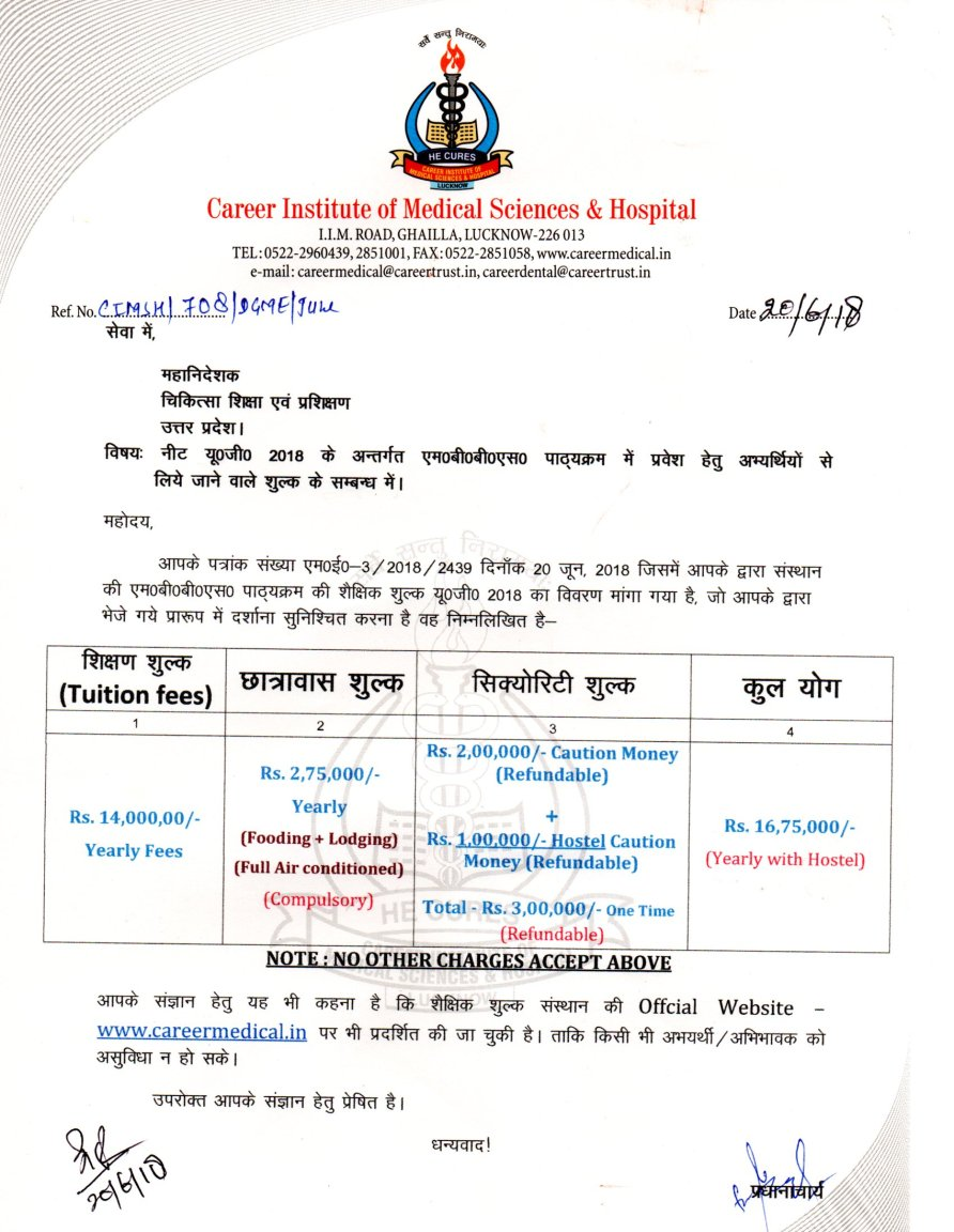 MBBS at Career Institute Of Medical Sciences & Hospital, Lucknow