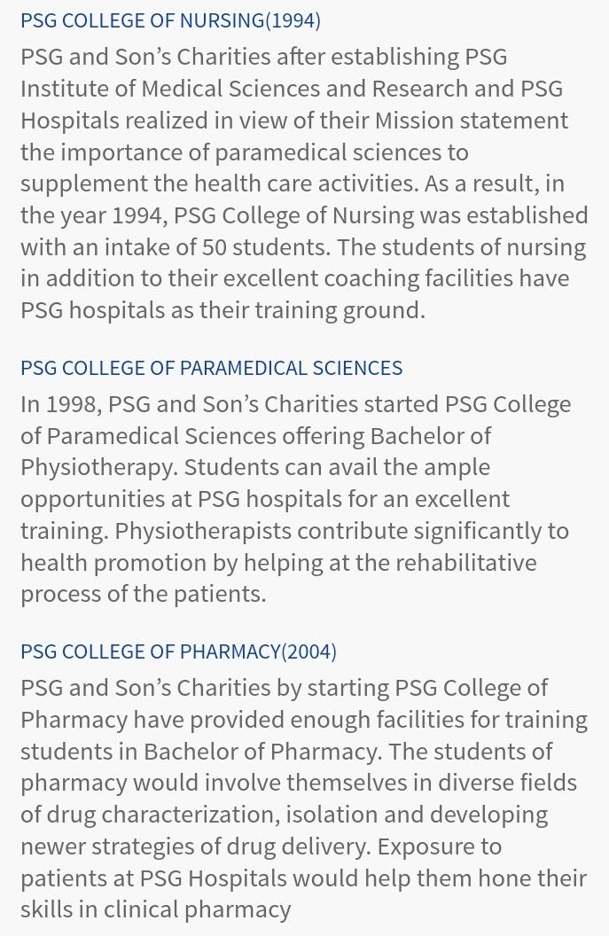 PSG college