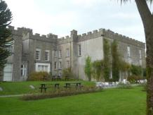 Rear of the castle - have tea or lunch from the cafe
