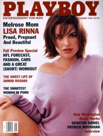 381154 08: Actress Lisa Rinna poses pregnant for Playboy magazine (September 1998 issue). (Photo courtesy of Playboy/Delivered by Online USA)