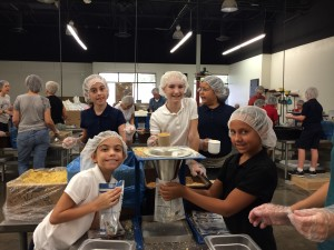 Feed My Starving Children - packing food for the Philippines