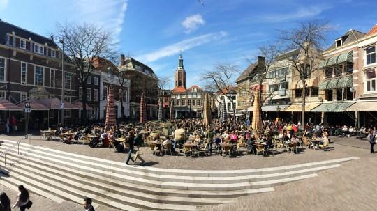 Hague, sunbathing