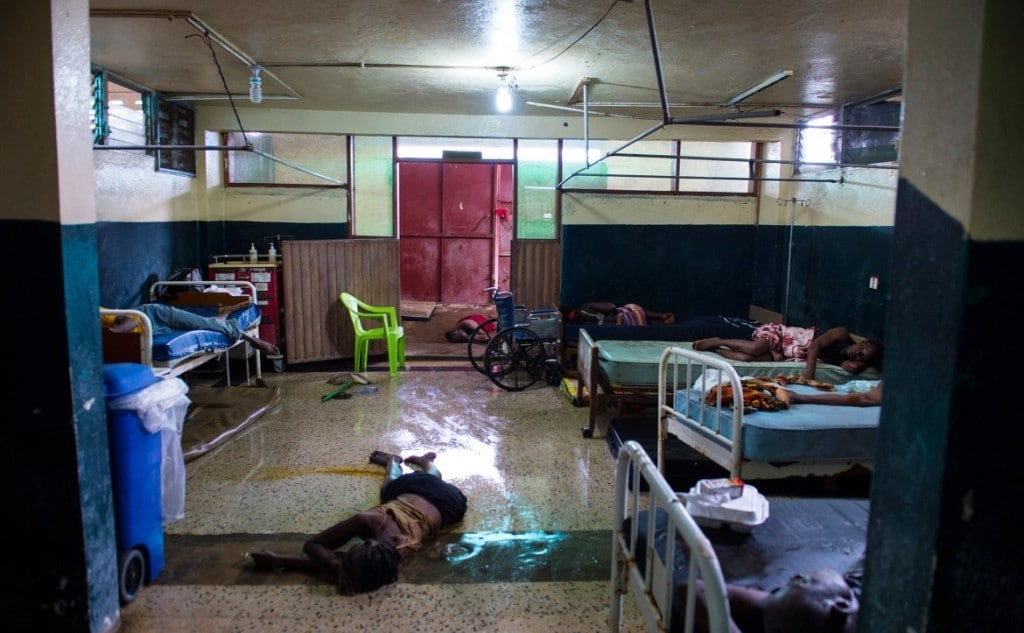An Ebola ward. Image from the Washington Post.