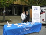 Sherry Rush and Patti Farrell at the MSRN table at the Towsontown Spring Festival Saturday, April 30, 2016