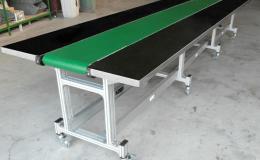 Alüminyum Şaseli Konveyör Çalışma Masalı PVC Bantlı Konveyör