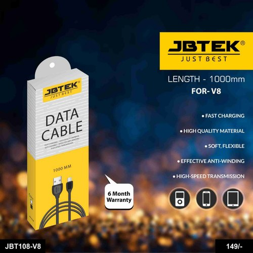 JBTEK Data Cable V8 (JBT108) 6 Month warranty