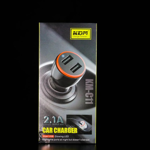 KDM C11 2.1 Amp Double USB car charger