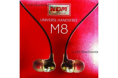 KDM M8 handsfree Earphone (Black)