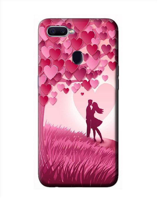 Mobile oppo F9 pro Back cover (pink couple)
