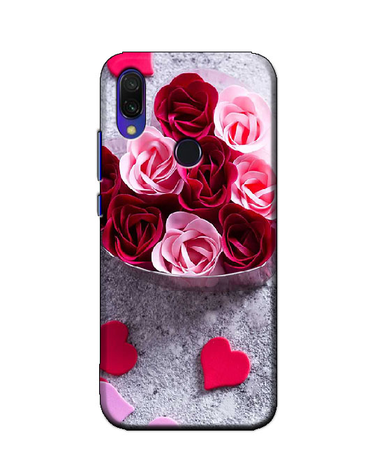 redmi y3 back cover (Rose heart)