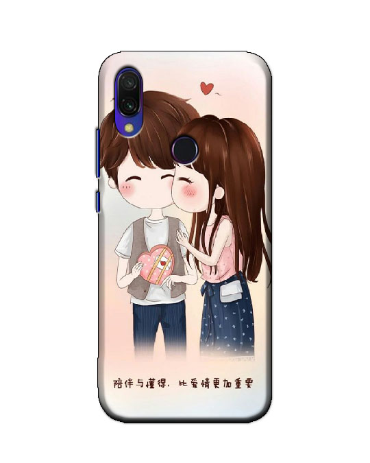 redmi y3 back cover (love couple)
