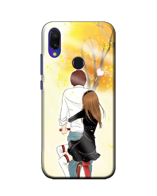 redmi y3 back cover (cycle couple)