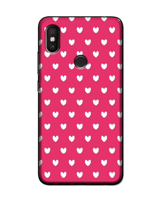 redmi y2 back cover (pink hearts)
